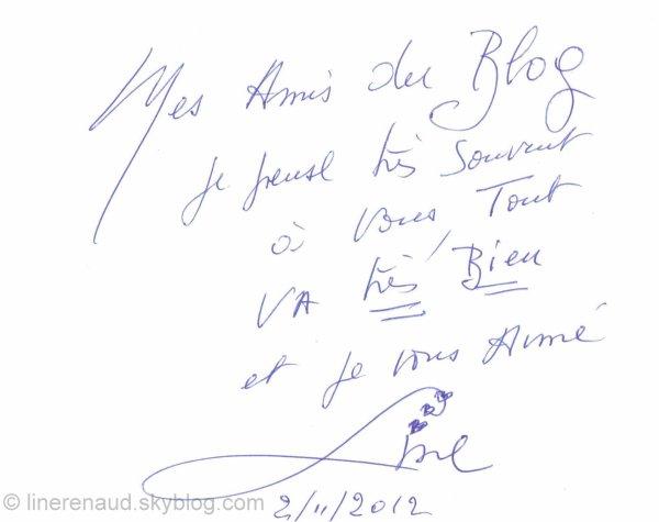 Line Renaud - Line vous écrit...