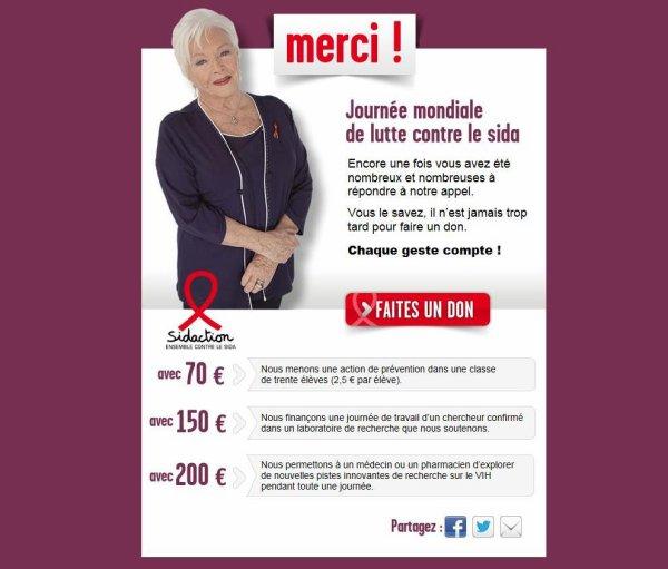 Line Renaud - Journée Mondiale de la lutte contre le Sida: Merci!