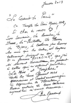 Line Renaud - Les trésors du Casino de Paris aux enchères fin janvier 2013