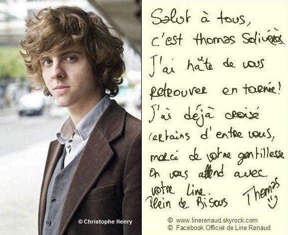 Line RENAUD - Message de Thomas Solivérès