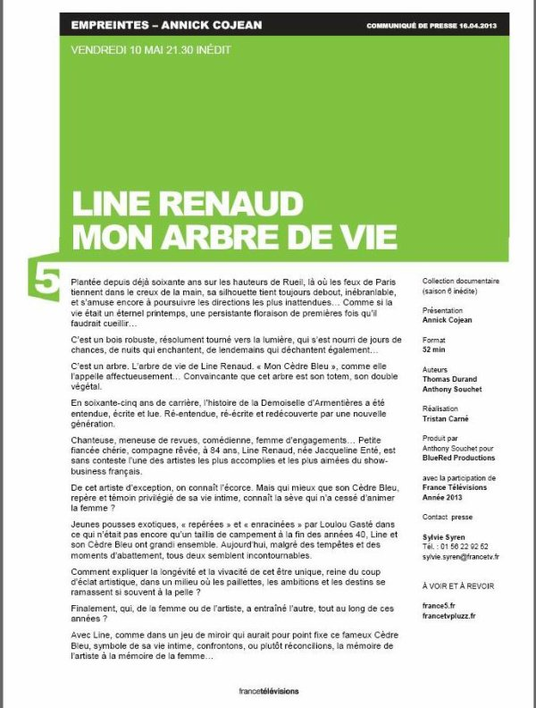 Line RENAUD - Empreintes