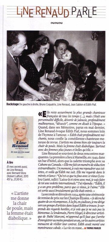 Line RENAUD - Le Point Hors-Série spécial Piaf