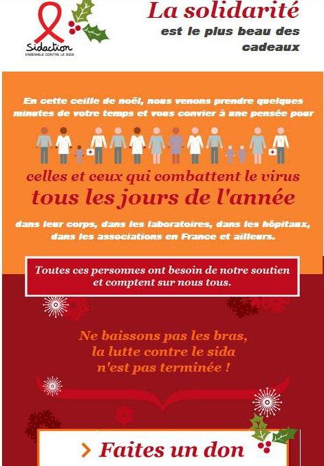 Line Renaud - En ce temps de Noël, soutenons Sidaction!