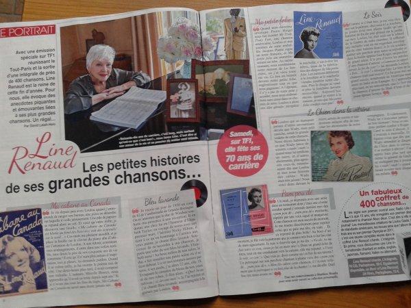 """Line Renaud - En cover du magazine """"Nous Deux"""" 3469"""