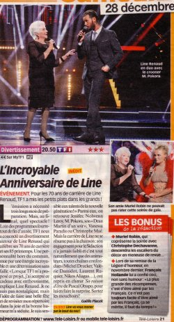 Line Renaud - Presse du jour