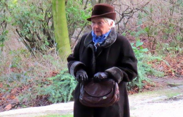 Line Renaud - En tournage à Bruxelles.