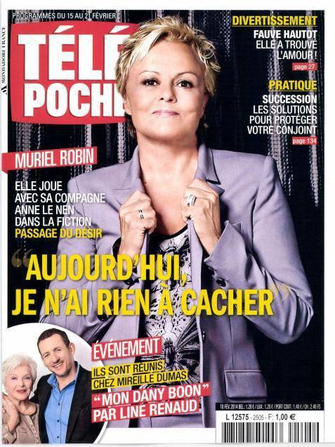 Line Renaud - Une de Télé Poche