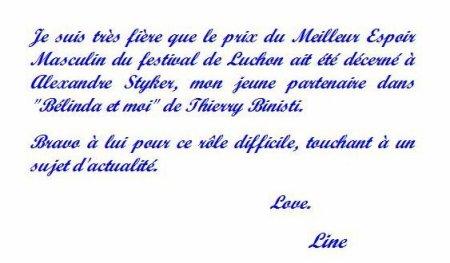 Line Renaud - Petit mot...