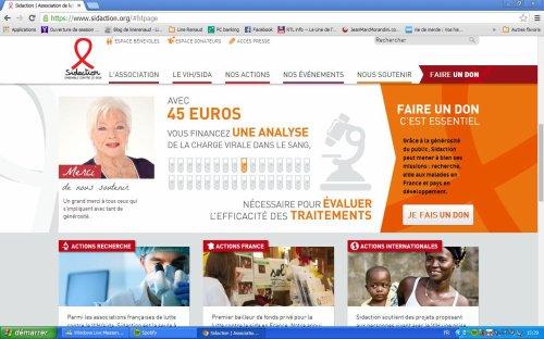 Line Renaud - Le site de Sidaction a fait peau neuve!