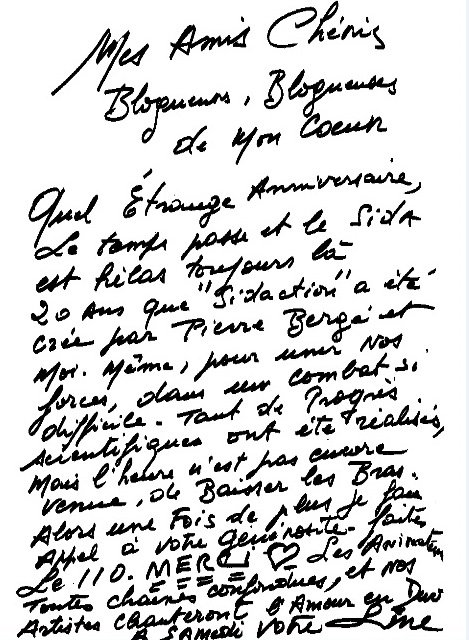Line Renaud - Je compte sur votre mobilisation!