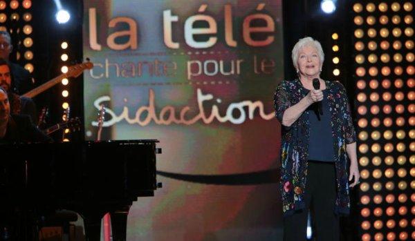 """Line Renaud - """"Toute la télé chante... pour le Sidaction"""""""