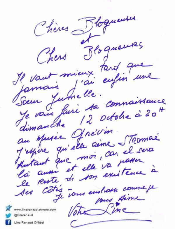 Line Renaud - Petit mot pour vous....
