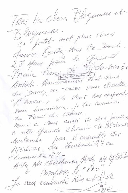 Line Renaud - Sidaction 2015: Je compte sur vous!