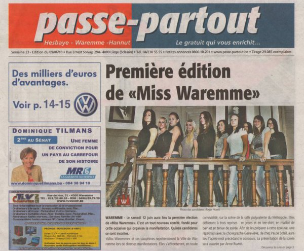 Candidates Miss Waremme  2010.