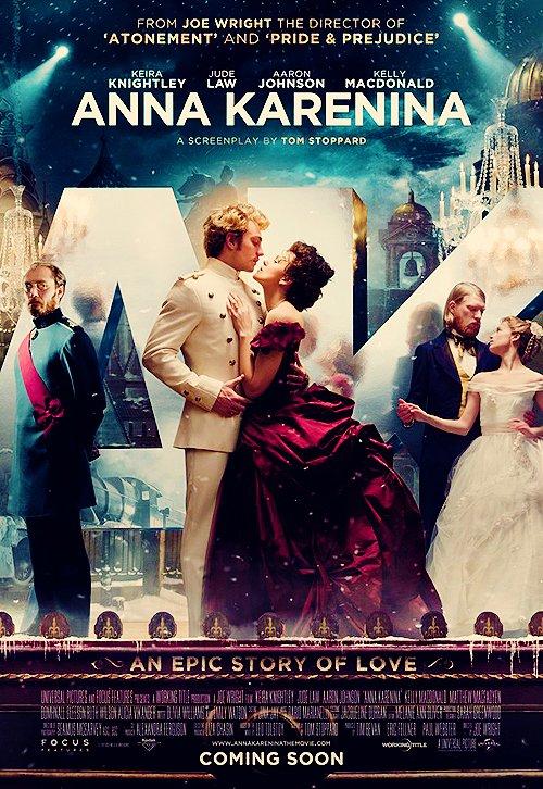 21 Juin 2012 C'est avec une immense joie que je vous dévoile le trailer et l'affiche du film : Anna Karérina ! Une merveille ! Gros coup de coeur