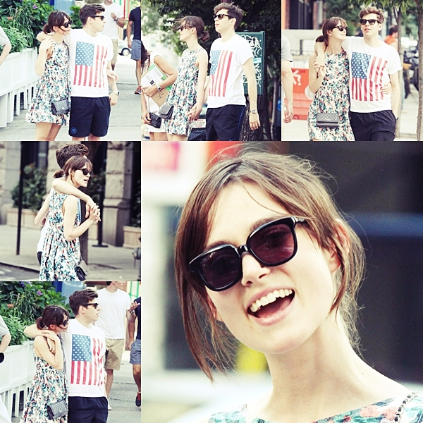 2 Juillet 2012 Keira sur le tournage de 'Can a Song Save Your Life' .