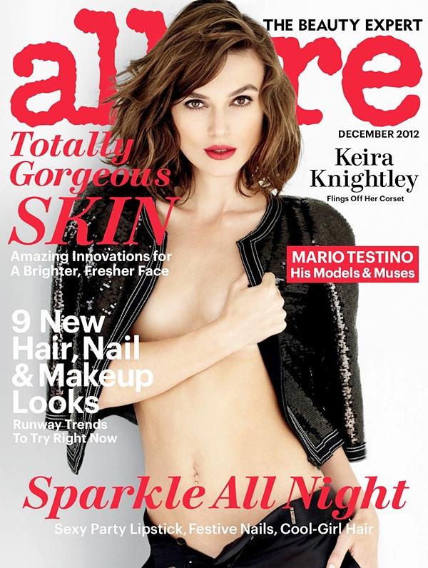 9 Novembre 2012 C'est une Keira très sexy qui fait la couverture du magazine Allure de décembre. Le scan est encore de mauvaise qualité, je le remplacerais quand il sera disponible en HQ