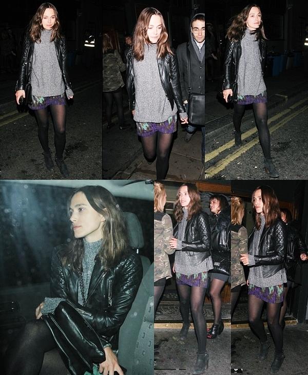 21 Mai 2013 Keira et James ont été vus quittant le restaurant de Delaunay dans le centre de Londres.