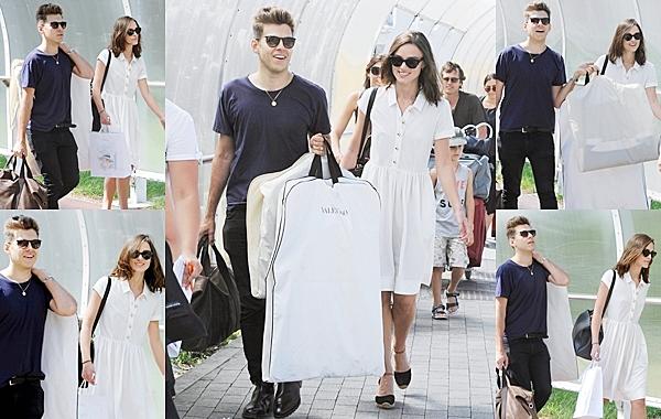 5 Septembre 2013 Keira et James sont arrivés à l'aéroport de Venice pour le Festival de Toronto.