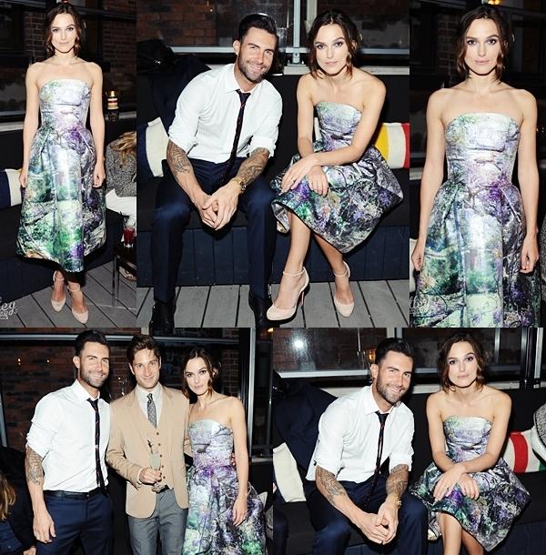 7 Septembre 2013 Keira a participé au Grey Goose vodka party après l'avant première de son nouveau film, avec Adam Levine.