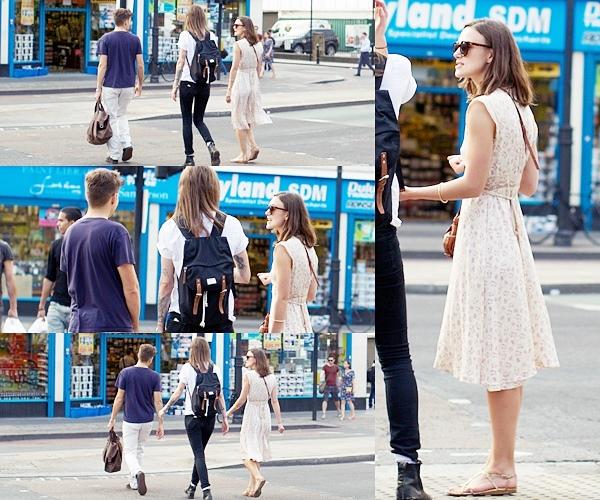 25 Septembre 2013 Keira a été aperçue en compagnie de James et d'une amie à Shoreditch ( Londres )