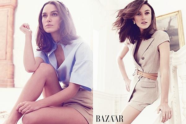 31 Décembre 2013 :  Keira fait la couverture du magazine Harper's Bazaar (UK) février 2014. Elle a été photographiée par Alexi Lubomirski.