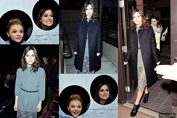 17 Janvier 2014 :  Keira était présente à l'avant première de Laggies au Sundance Film Festival. Elle portait une robe Valentino et des chaussures Chanel.