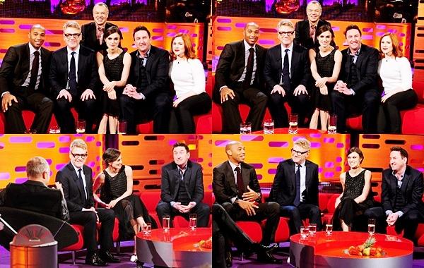 20 Janvier 2014 :  De retour à Londres, Keira a participé à l'émission The Graham Norton Show avec Kenneth Branagh pour la promotion de Jack Ryan.