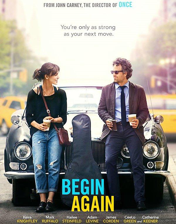 Begin Again :  La toute première affiche du film Begin Again vient de sortir ! La bande d'annonce est aussi disponible plus bas. Donnez moi vos avis !