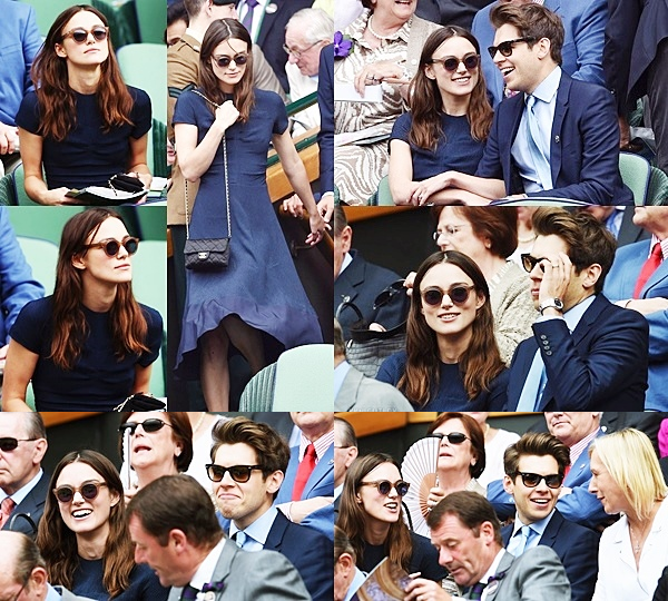 5 Juillet 2014 :  Keira et James Righton ont été vu dans la loge royale pour regarder le championnat de tennis de Wimbledon Lawn à Londres.