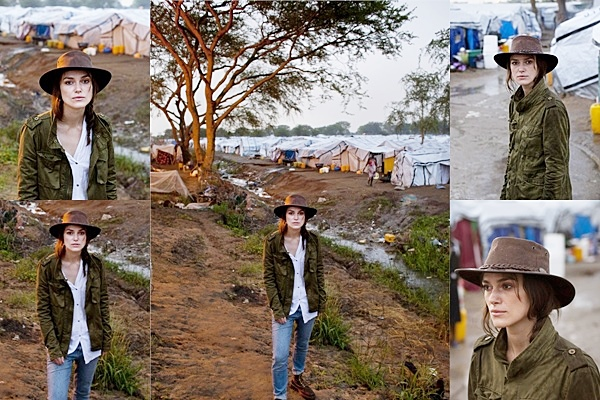10 Juillet 2014 :  Keira nous montre une fois de plus son engagement remarquable envers les plus démunis. Entre les tournages et les promotions, elle trouve le temps de venir en aide à ceux qui en ont le plus besoin. Elle a effectué un voyage humanitaire du Soudan du Sud. Plus bas vous pourrez lire les pensées de l'actrice sur son voyage.