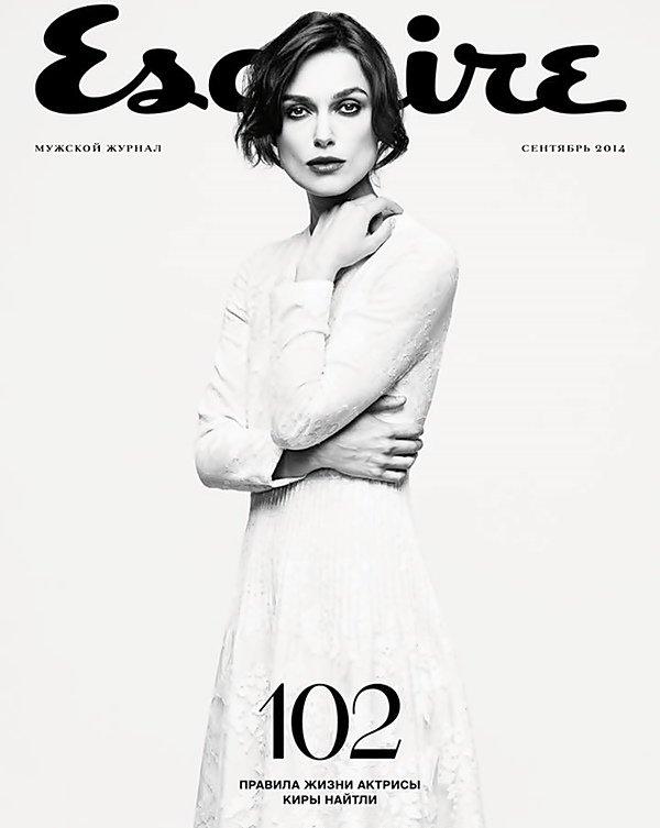 31 Août 2014 :  Keira fait la couverture du magazine Esquire de Russie.