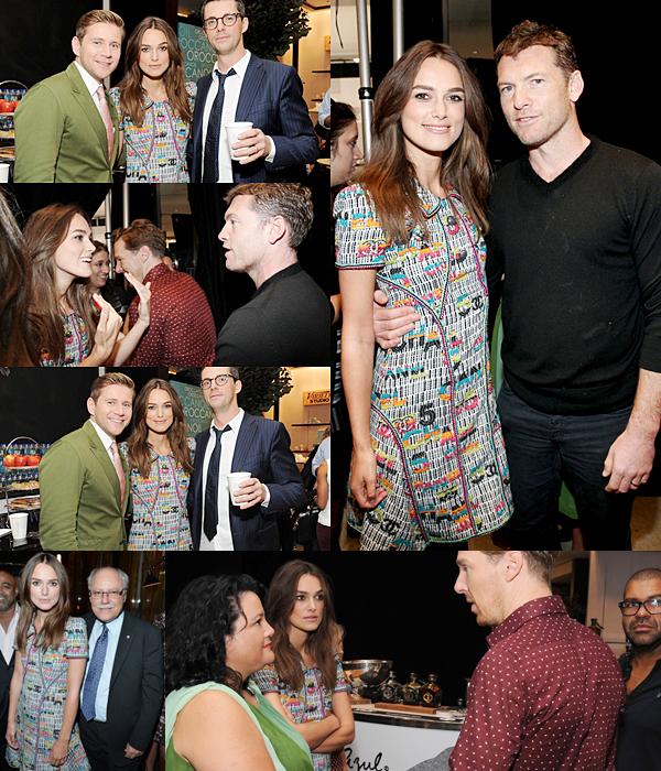 8 Septembre 2014 :  Keira était présente à la conférence de presse Variety Studio. Elle portait une robe Chanel.