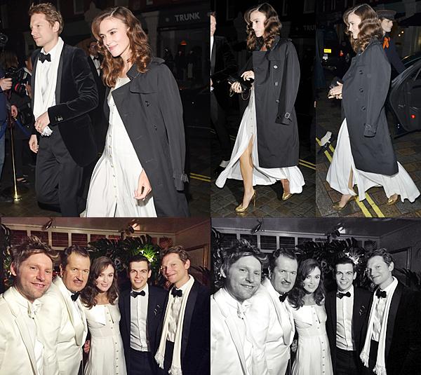 29 Octobre 2014 :  Keira et James ont participé au 60è anniversaire du photographe Mario Testino  au restaurant The Chiltern Firehouse. Cétait une soirée vintage avec pour thème Gatsby le Magnifique !