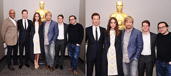 """18 Novembre 2014 :  Keira a été invitée à la conférence """" In Conversation"""" tenue à la BAFTA (British Academy of Arts in Film and Television) à New York. L'événement consiste en des entrevues avec des acteurs remarquables, réalisateur, scénaristes et producteurs britanniques sur leurs carrières. Elle portait une robe signée Holly Fulton."""