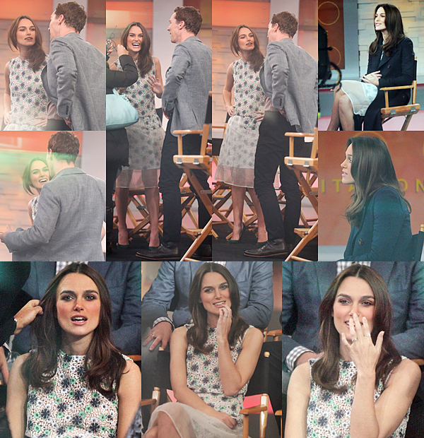 18 Novembre 2014 :   Keira était l'invitée au  LIVE! Avec Kelly et Michael, à l' ABC de la chaîne de télévision américaine.