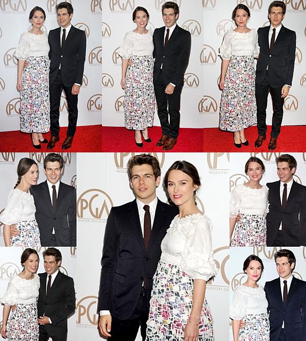 24 Janvier 2015:  Keira était présente au Producers Guild Of America Awards à Los Angeles ! Elle portait une robe signée Chanel, la même qu'elle a porté le 10 janvier lors des pré-Gloden Globes !