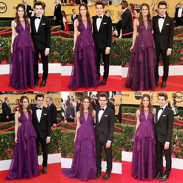 25 Janvier 2015:  Keira a assisté aux Screen Actors Guild Awards avec son mari. Elle portait une robe signée Erdem. Elle a présenté un prix avec ses co-stars de The Imitation Game.