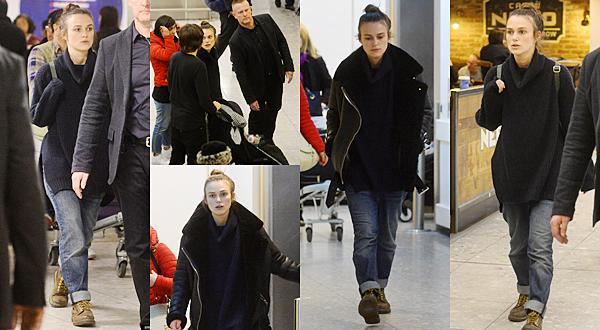 23 Mars 2016 :  Keira a été vue à l'aéroport de Londres ! Le tournage de Collateral Beauty est donc fini !