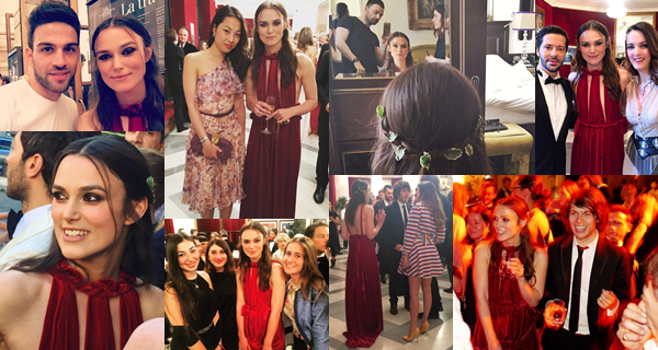 22 Mai 2016 :  Keira était présente à l'avant première de l'opérât : La Traviata de Sofia Coppola à Rome ! Elle portait une robe rouge signée Valentino.Durant la soirée, James a interprété plusieurs de ses chansonsmorceaux. Un extrait est disponible [ICI]. Keira est trop mignonne sur cette vidéo :)