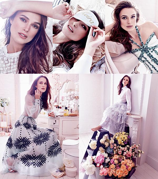 Harper's Bazaar :  C'est avec grande surprise que Keira a été choisit pour faire la couverture du magazine Harper's Bazaar UK du mois de décembre 2016. Elle a posé pour le photographe Alexi Lubormirski. Pour ces photos, Keira était habillée exclusivement de vêtements de la marque Chanel. Vous pouvez d'ailleurs retrouver la robe qu'elle a porté en Italie lors de ces dernières sorties.
