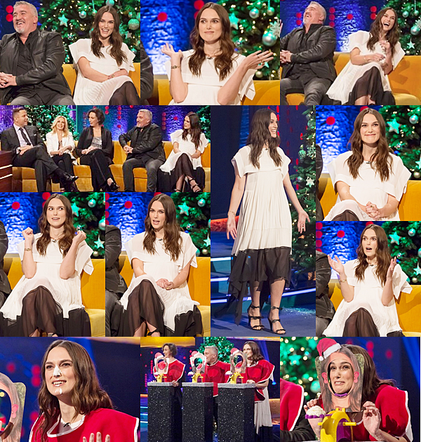 """7 Décembre 2016 :  Keira était invitée à l'émission The Jonathan Ross Show à Londres. Elle a assuré la promotion de son nouveau film """"Collateral Beauty"""". Elle portait une robe signée Chloe."""