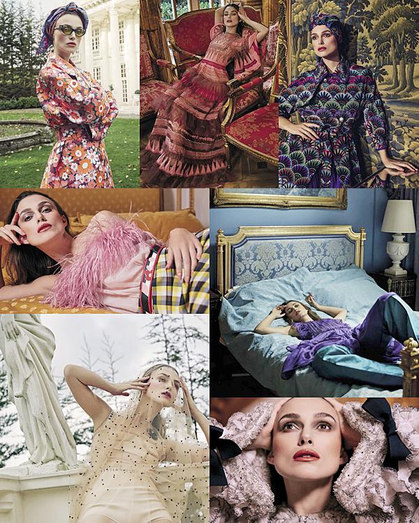 VOGUE :  •Keira a réalisé un shoot pour le magazine Vogue Italie du mois d'avril 2017 ! Elle a posé pour le photographe Yelena Yemchuk.