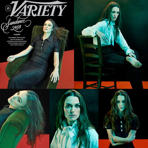 Variety :  Keira fait la couverture du magazine Variety du mois de Janvier. Elle a posé pour le photographe Nadav Kander. Vous pouvez retrouver l'interview traduite en français sur le site Magnificient.