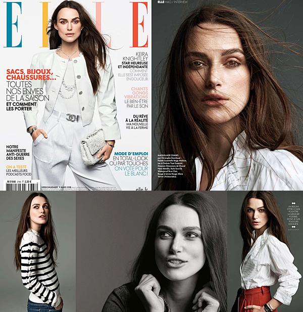 ELLE Keira fait la couverture du magazine ELLE français du mois de mars. Vous pouvez lire l'interview sur ce site.