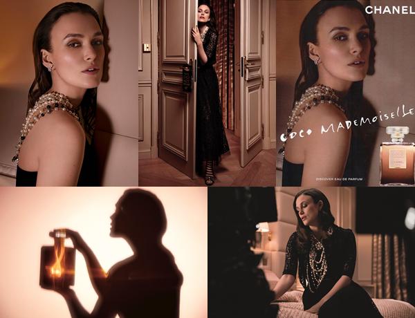 CHANEL : •La maison Chanel a sorti une nouvelle version du parfum Coco Mademoiselle : l'Eau Privée. Pour l'occasion, une nouvelle affiche promotionnelle, de nouvelles photos et une nouvelle publicité ont été réalisées.