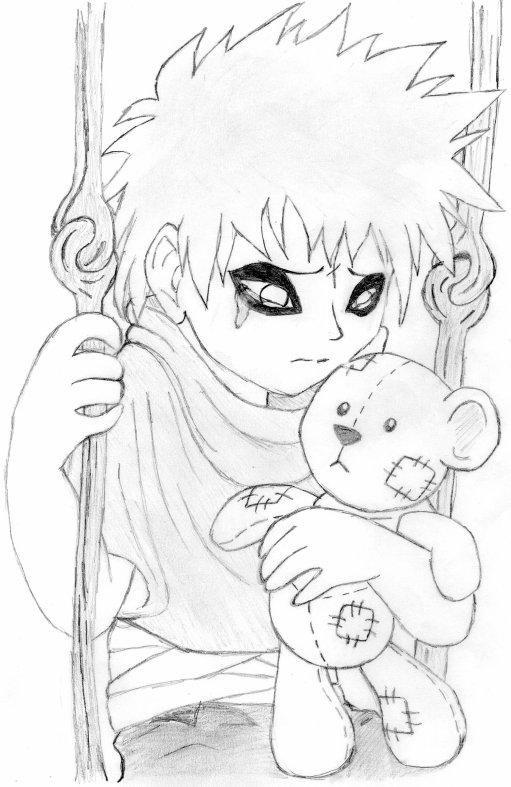 Gaara No Sabaku Enfant Blog De Dessins De Moi Manga