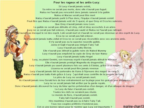 Message pour les antis-Lucy