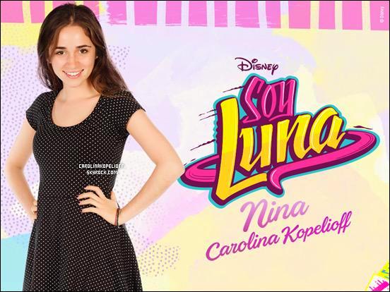 | Découvrez le personnage de Nina, interprétée par Carolina, dans la série Soy Luna. |
