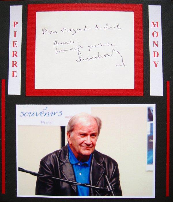 Hommage à Pierre MONDY, le grand Pierre MONDY n'est plus, il avait 87 ans, emporté par son cancer, diagnostiqué en Juillet 2009.